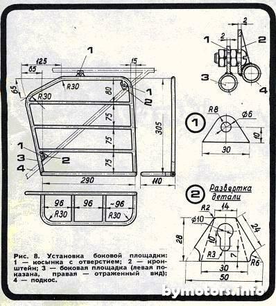 Готовый багажник можно окрасить под цвет мотоцикла или покрыть слоем хрома (никеля) гальваническим путем.