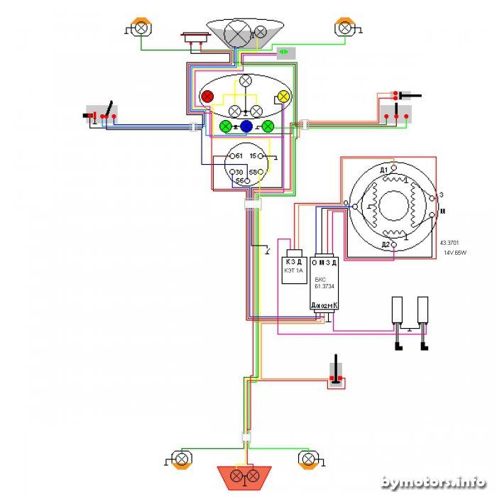 Вариант электропроводки для